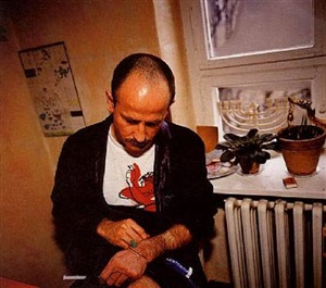 piotr with his aids medication by nan goldin