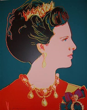 queen margrethe ii of denmark by andy warhol