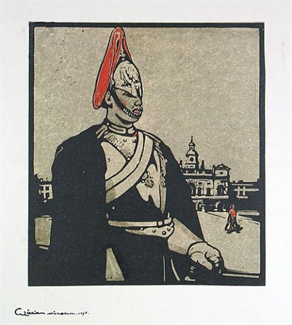 guardsman (the horse guards) by william nicholson