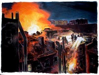 tenement fire by james romberger