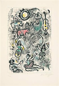 les saltimbanques (die gaukler) by marc chagall