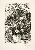 le bouquet blanc (der weiße strauß) by marc chagall