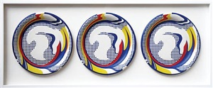 paper plates by roy lichtenstein