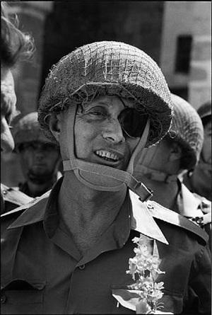 entrée du général moshe dayan à jérusalem, guerre de six jours, israël by gilles caron
