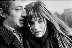 jane birkin et serge gainsbourg, paris, france by gilles caron