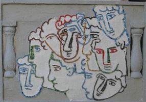 muro di volti by sandro chia