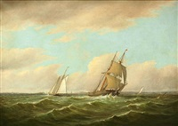 new bedford harbor by charles henry gifford