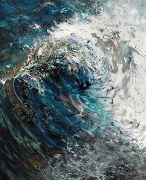 wave breaking, august by maggi hambling