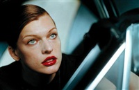 milla jovovich, italian vogue, los angeles 2000 by peter lindbergh