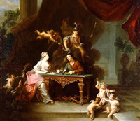 the philosophy lesson <i>or</i> the triumph of goodness by jean-baptiste oudry