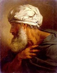 beribboned head of a man by pierre hubert subleyras