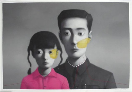 face east contemporary chinese art by zhang xiaogang