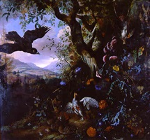birds in a landscape by matthias withoos
