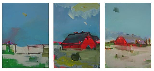 untitled (triptych) by matthias weischer
