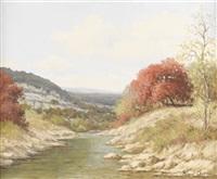 untitled: autumn stream in texas by palmer chrisman