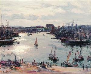 le vieux port vu de la canebière by jean baptiste olive