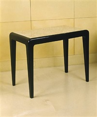 table haute rectangulaire / high rectangular table by jean dunand