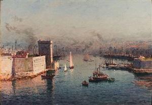 entrée du vieux port de marseille by jean baptiste olive
