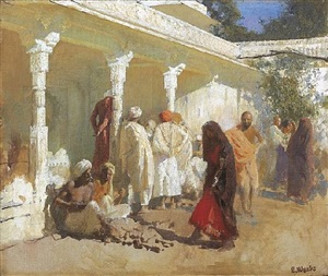 the bazaar at oudeypore by edwin lord weeks