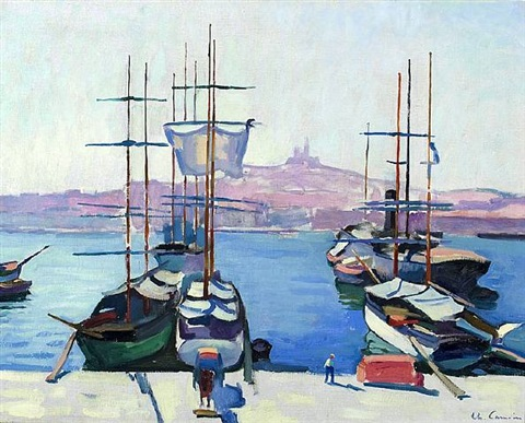 le port de marseille by charles camoin