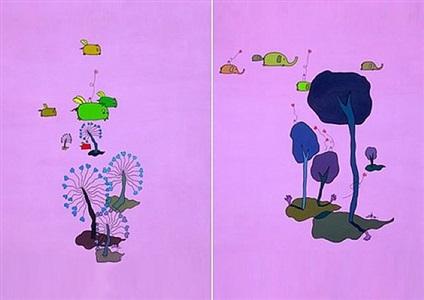 flying heart #1 / flying heart #2 by fang yixiu
