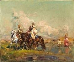 passage de la rivière by henri emilien rousseau