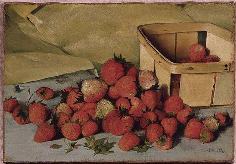 still life with strawberries by joseph decker