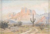 untitled: desert scene by elmer l. boone