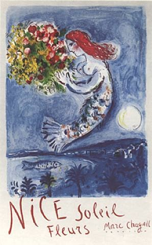 bay of angels by marc chagall