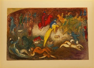 chloé is carried off by the methymneans by marc chagall
