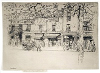 the street, chelsea embankment by theodore casimir roussel