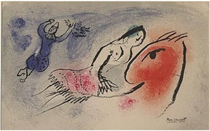 girl circus rider<br>greeting card by marc chagall