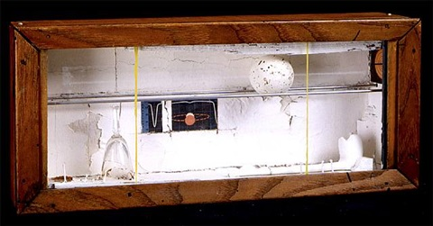 untitled (celestial box with pipe, glass and ball) by joseph cornell