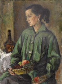 woman with still life by emily guthrie smith