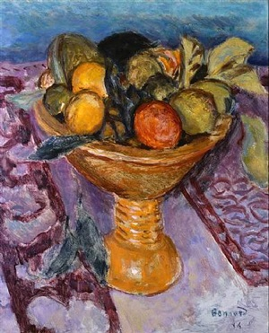 le compotier – the fruit bowl by pierre bonnard