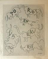 toros en vallauris 1960 by pablo picasso