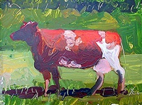 cow in field i by robert andrew parker