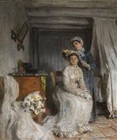 le couronnement de la mariée by léon augustin l'hermitte