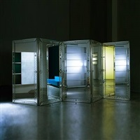 custom designed mirrored room divider by philippe starck by philippe starck