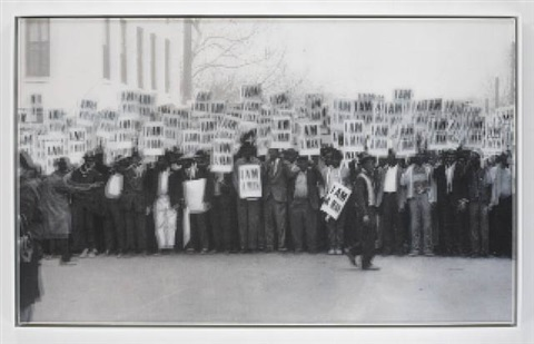 another country, strike, memphis, tennessee, march 28, 1968 (after earnest withers; new york public library image collection) by bradley mccallum and jacqueline tarry