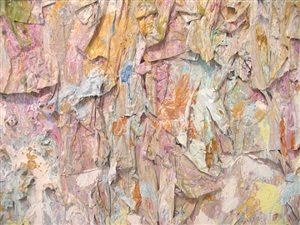 foreign forever (detail) by larry poons