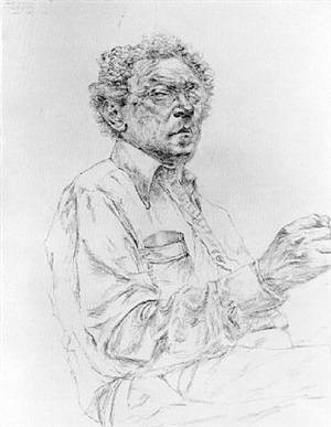 self portrait by avigdor arikha