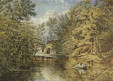 boating on the old croton reservoir by william rickarby miller