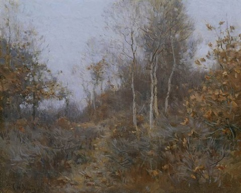 winter morning in the woods by charles harold davis