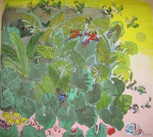 feuillages et perroquets by raoul dufy