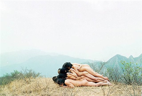 to add one meter to an anonymous mountain by zhang huan