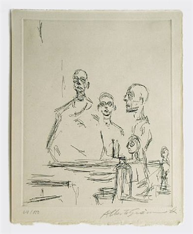 sculptures dans l'atelier, from catalogue galerie beyeler (lust 185) by alberto giacometti