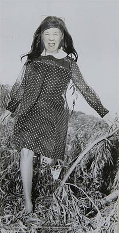 ridiculous portrait (polka dot dress) by may wilson