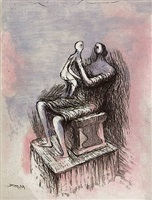 mother and child xx by henry moore