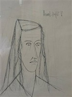 portrait by bernard buffet
